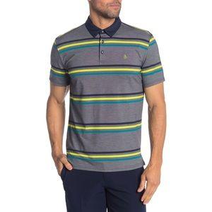 Original Penguin striped short sleeve polo shirt